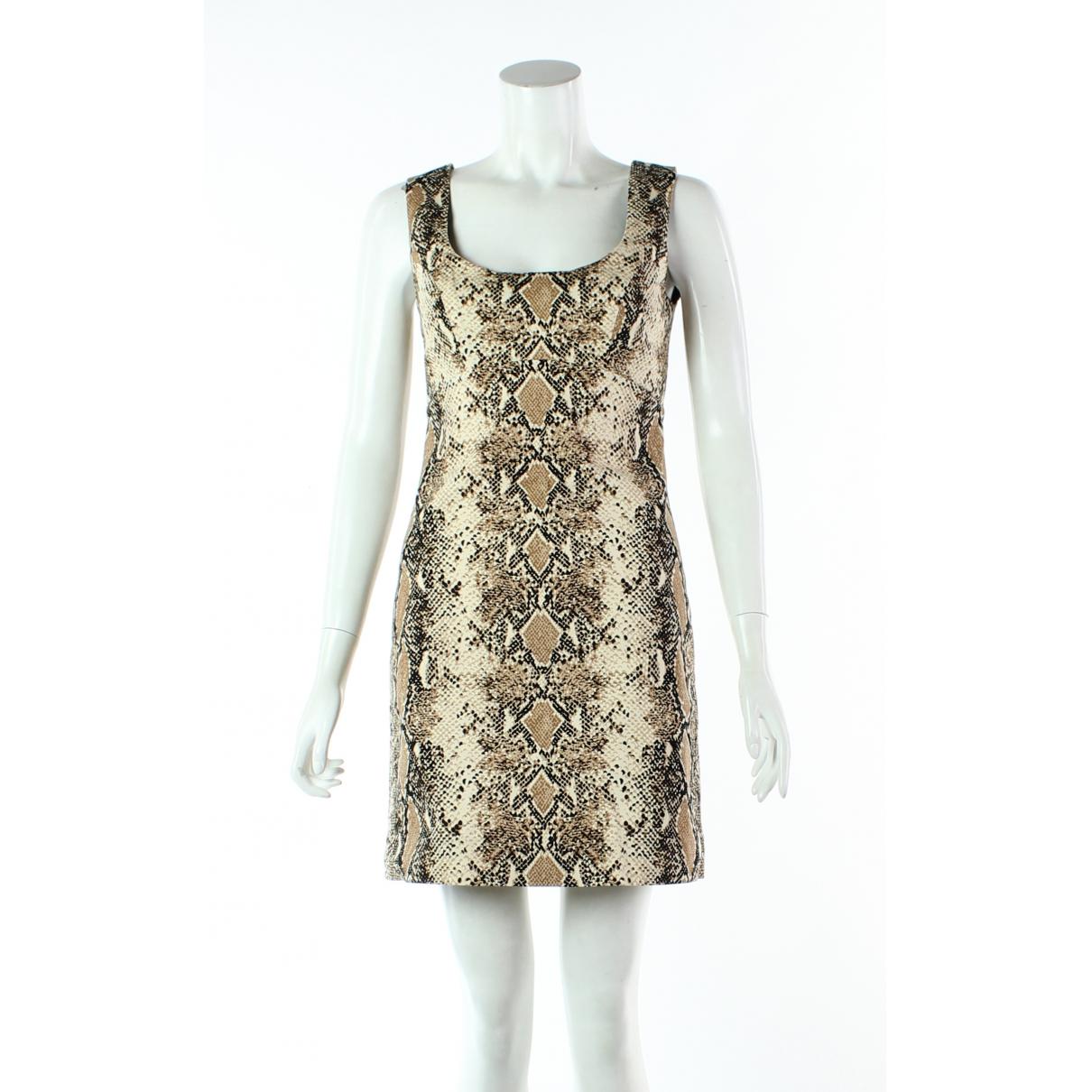 Diane Von Furstenberg \N Kleid in  Beige Baumwolle