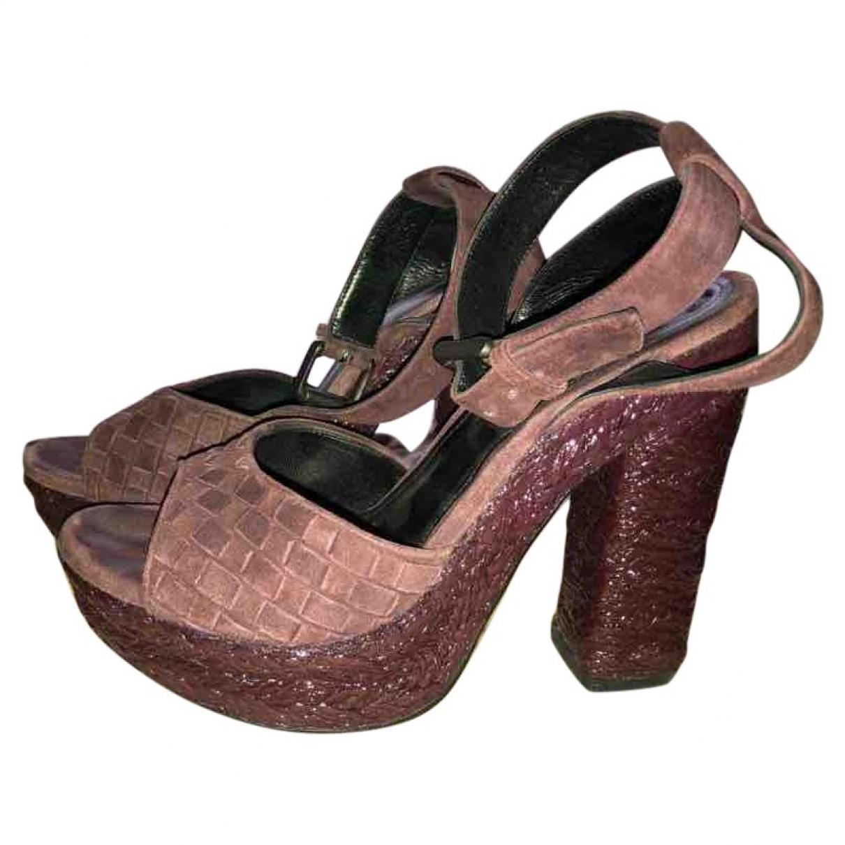 Bottega Veneta - Sandales   pour femme en suede - violet