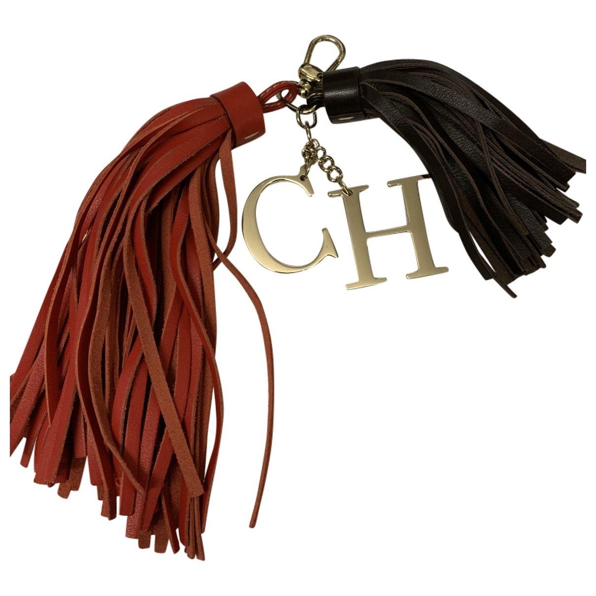 Carolina Herrera - Bijoux de sac   pour femme en cuir - rouge