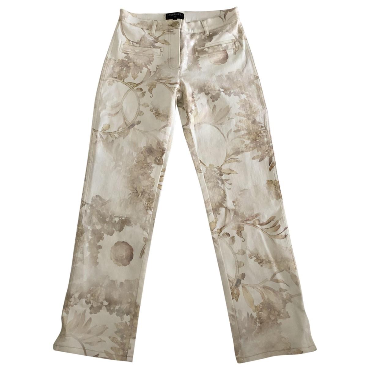 Chanel \N Multicolour Cotton Jeans for Women 38 FR