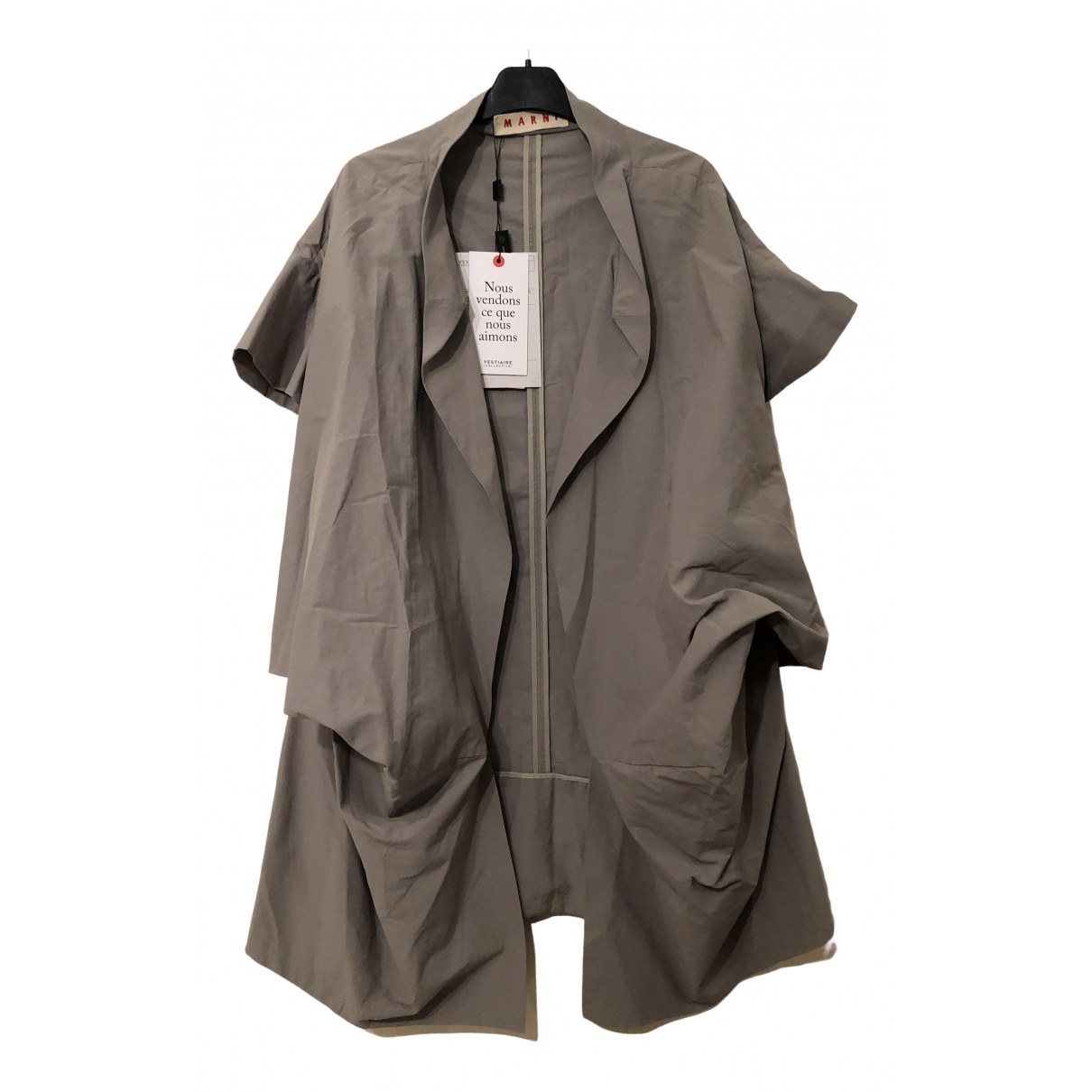 Marni \N Khaki Cotton coat for Women 38 IT
