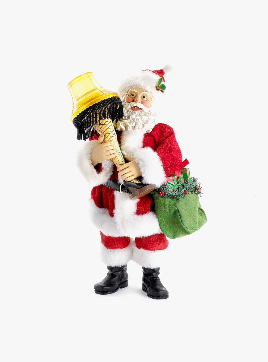 Leg Lamp Fabriche Santa With Light