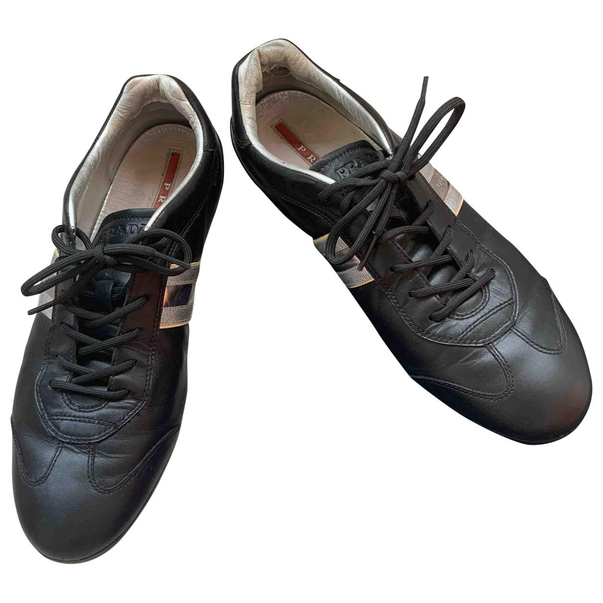 Prada CloudBust Air Sneakers in  Schwarz Leder
