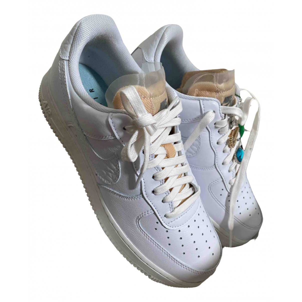 Nike Air Force 1 White Leather Trainers for Women 7.5 UK