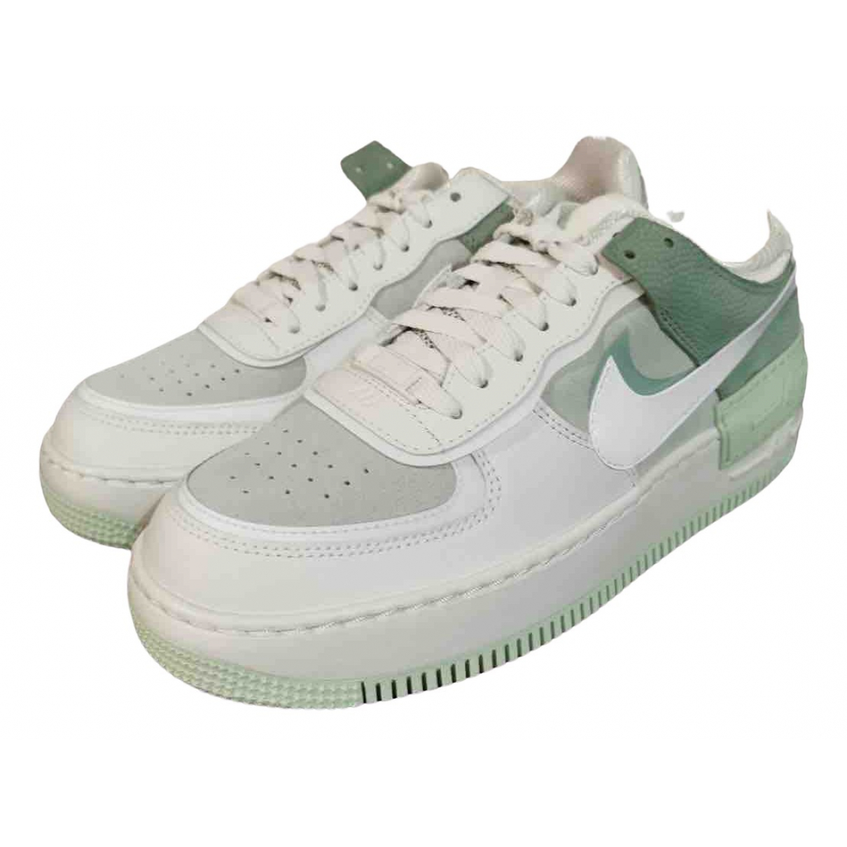 Nike Air Force 1 Green Leather Trainers for Women 40.5 EU