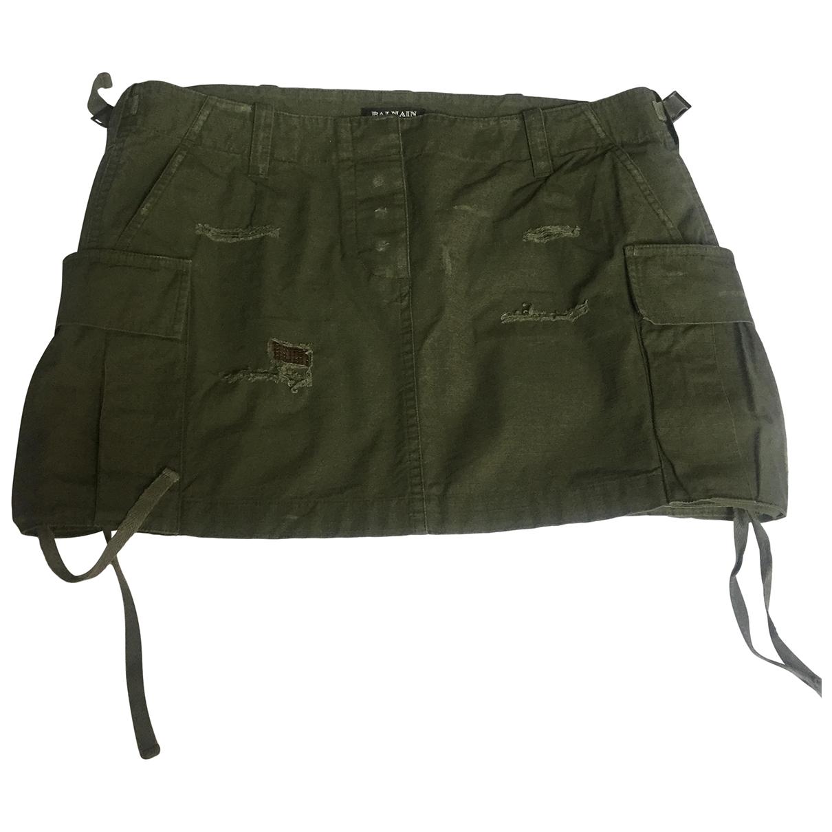 Balmain \N Green Cotton skirt for Women 40 FR