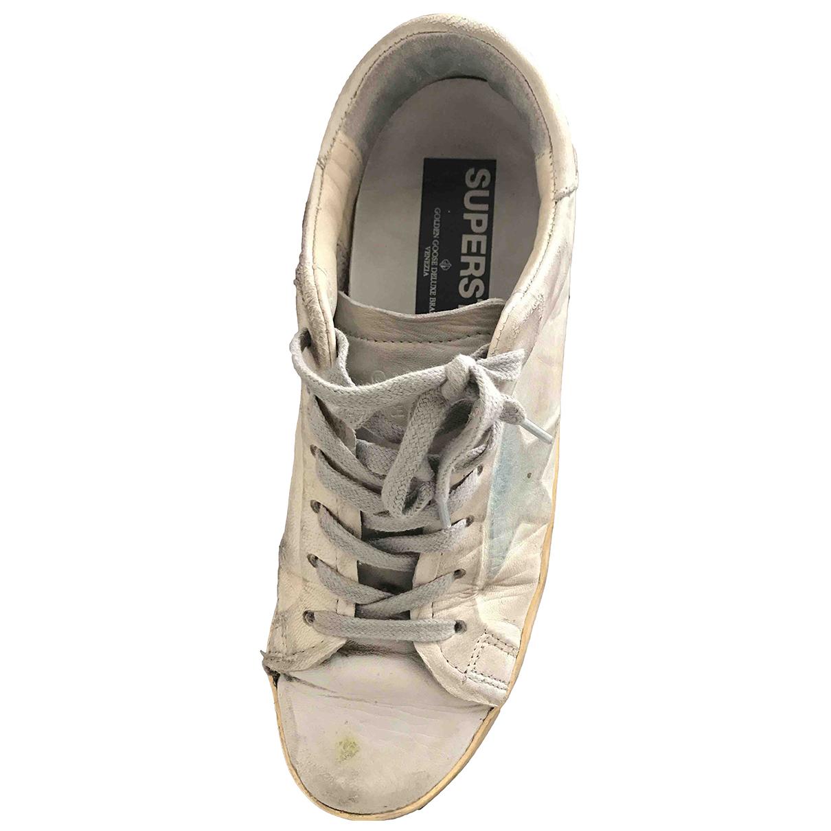 Golden Goose Superstar Sneakers in  Anthrazit Leder