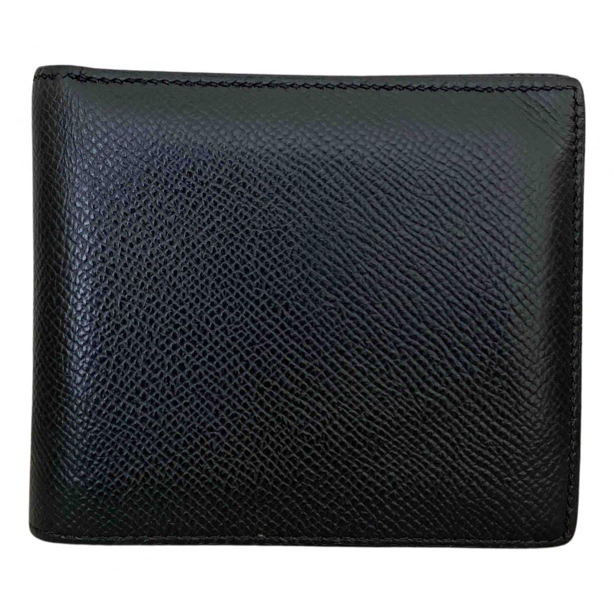 Hermes - Petite maroquinerie MC2 pour homme en cuir - noir