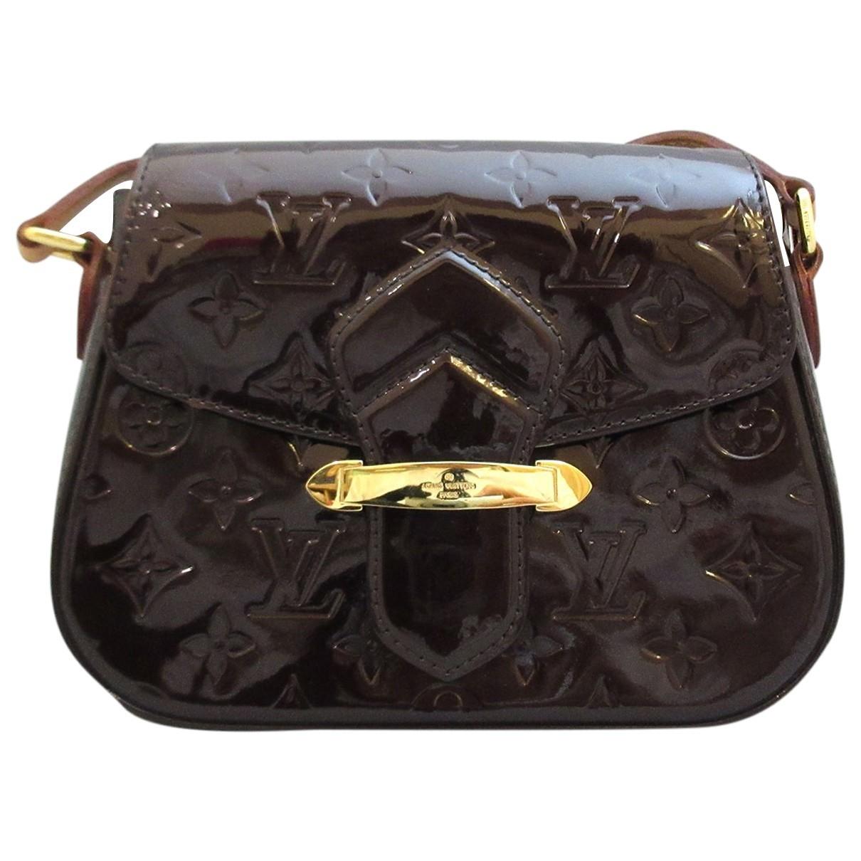 Louis Vuitton - Sac a main   pour femme en cuir verni - gris