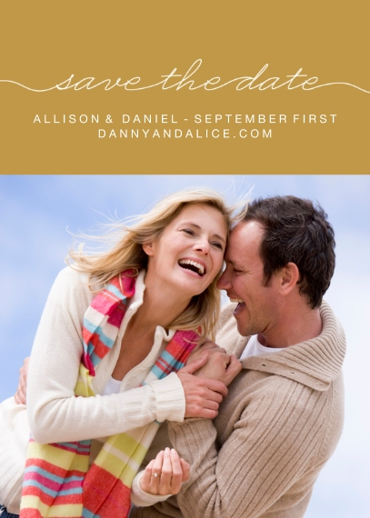 Save the Date Flat Glossy Photo Paper Cards with Envelopes, 5x7, Card & Stationery -First Blush