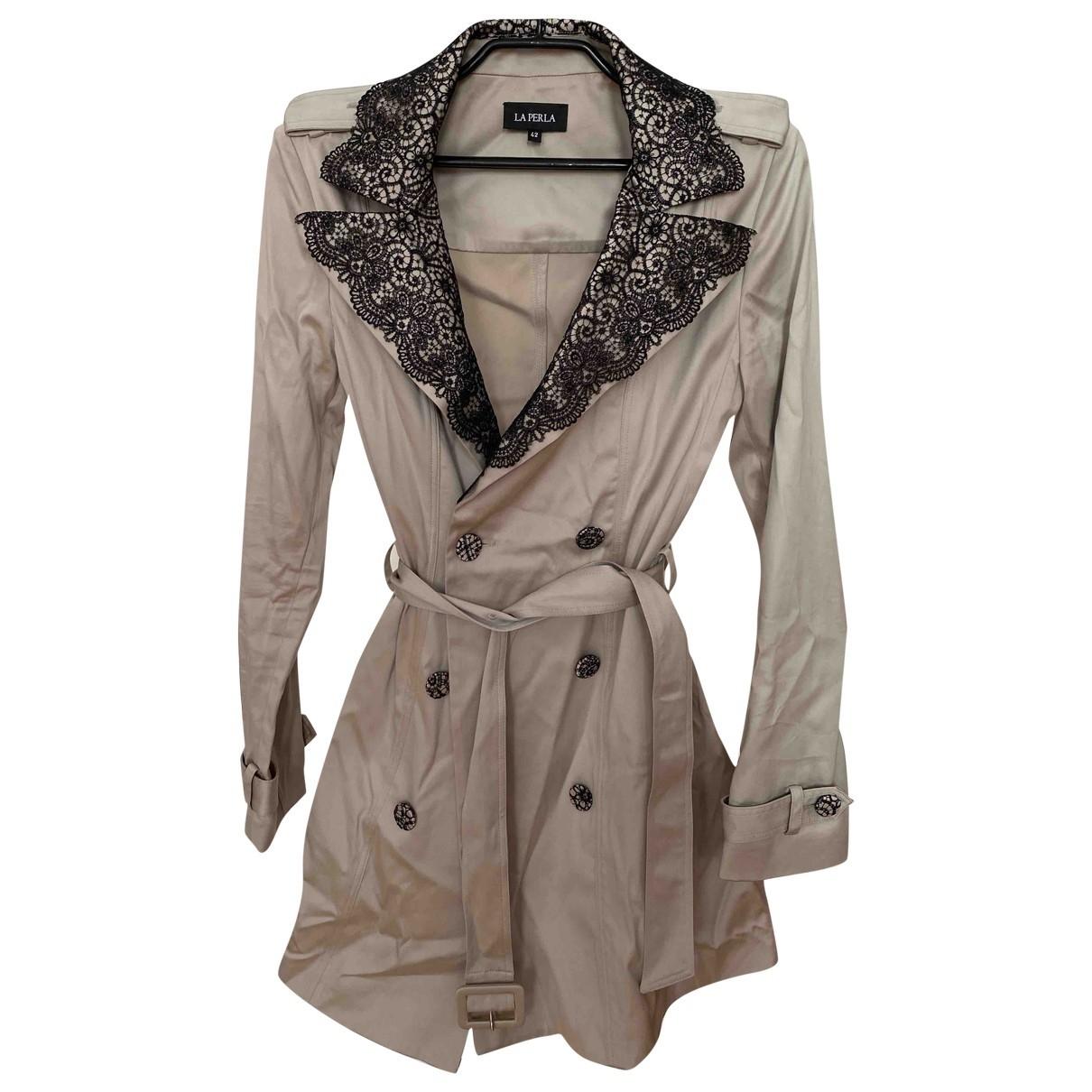La Perla N Beige Cotton coat for Women 42 IT