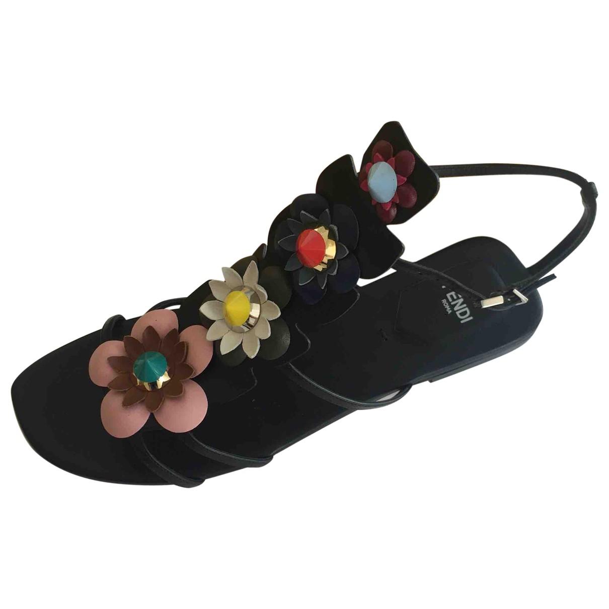 Fendi - Sandales   pour femme en cuir - multicolore