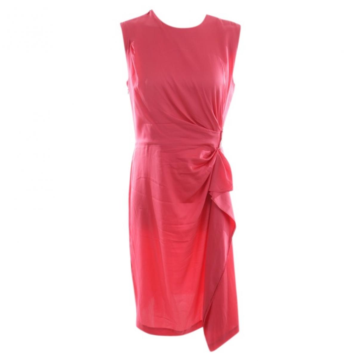 Diane Von Furstenberg \N Pink Silk dress for Women 36 FR
