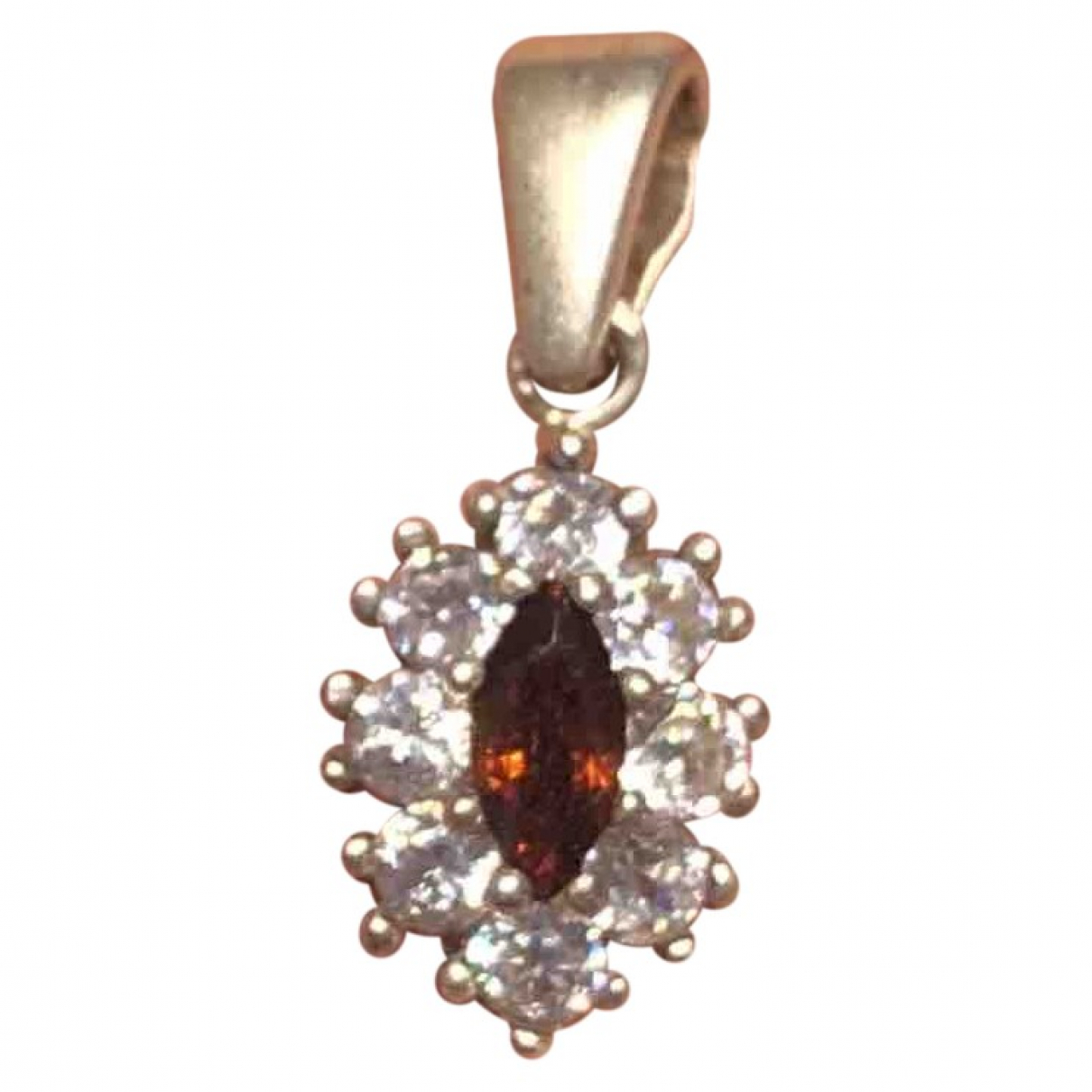 Non Signé / Unsigned Rubis Silver Silver pendant for Women \N