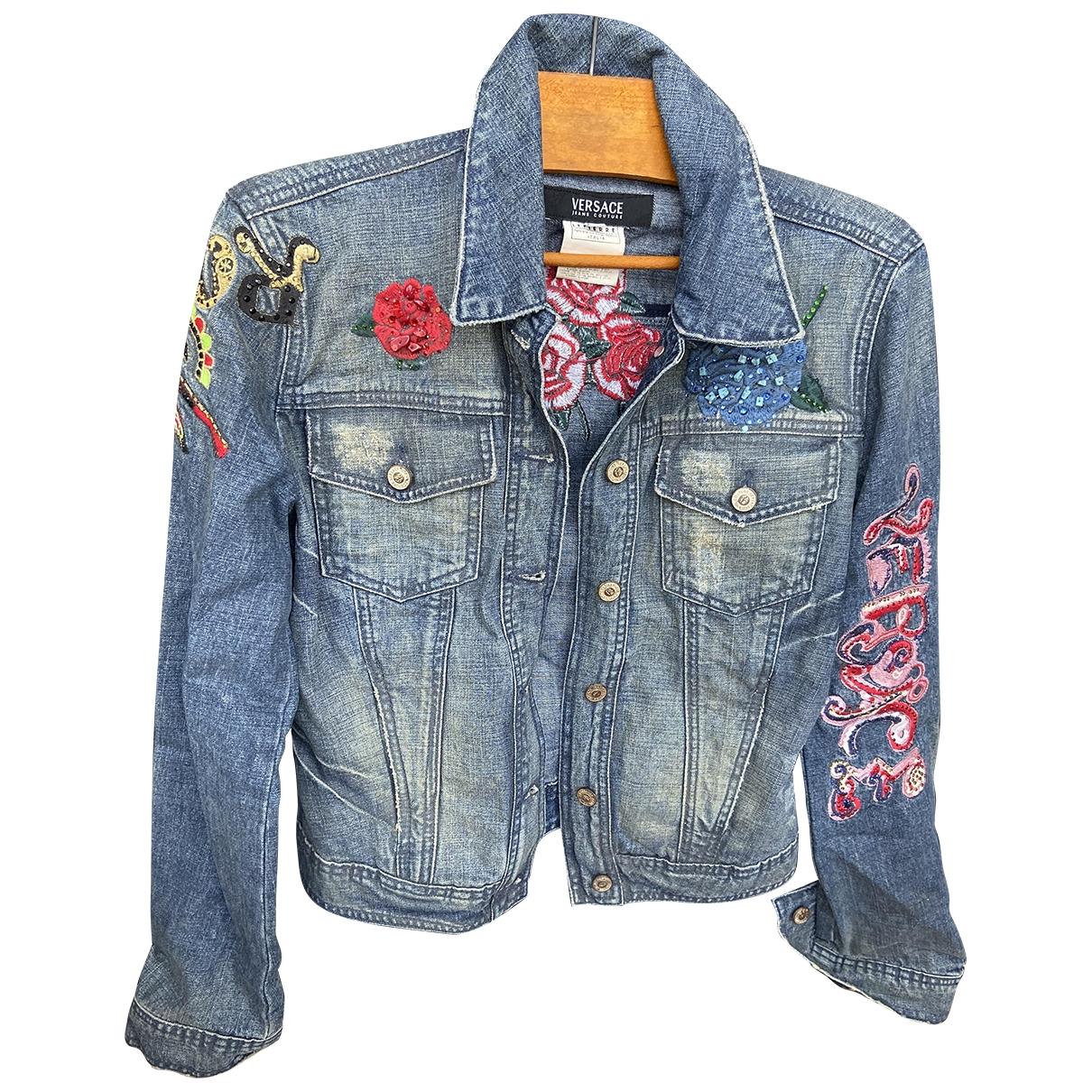 Versace Jeans \N Jacke in  Blau Baumwolle