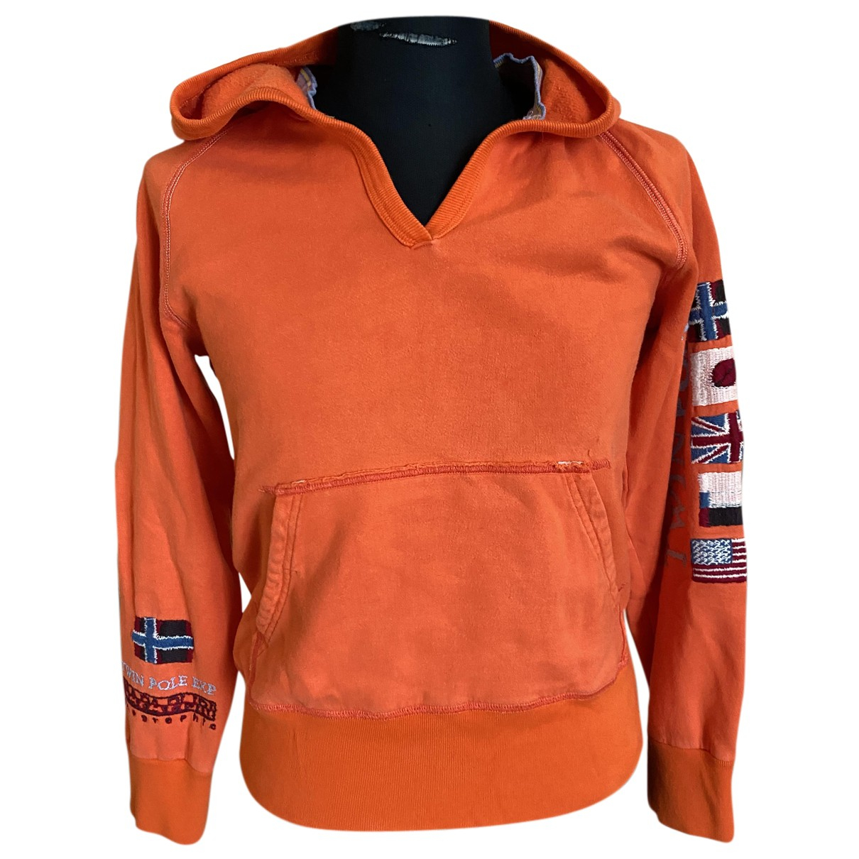 Napapijri - Pulls.Gilets.Sweats   pour homme en coton - orange