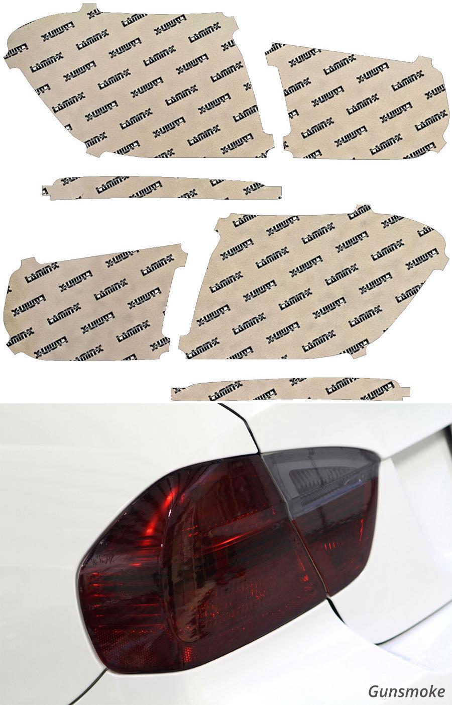 BMW 5-Series 17-19 Gunsmoke Tail Light Covers Lamin-X B261G