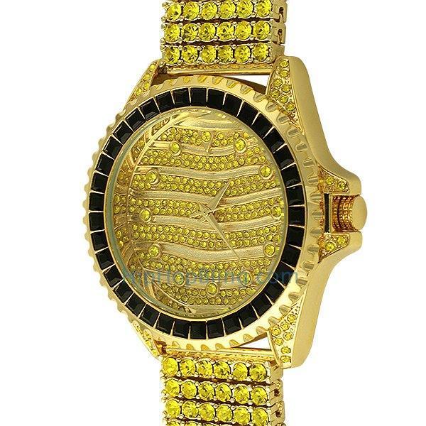 Wavy Lemonade Custom Watch & 6 Row Band