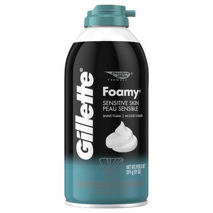 Lunar Year Sale Gillette Foamy Sensitive Skin Shaving Cream, 311g - 1Pack