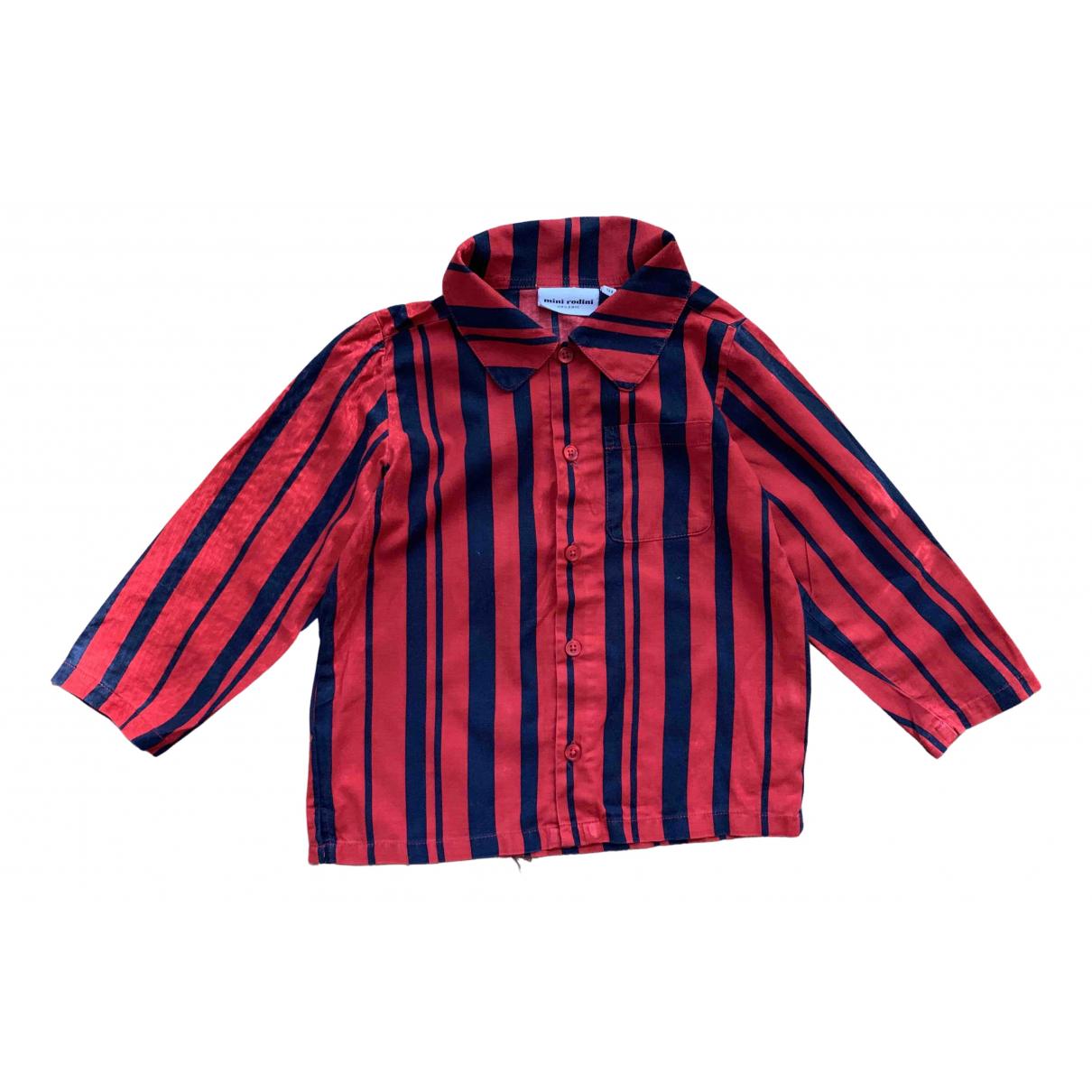 Mini Rodini - Top   pour enfant en coton - rouge