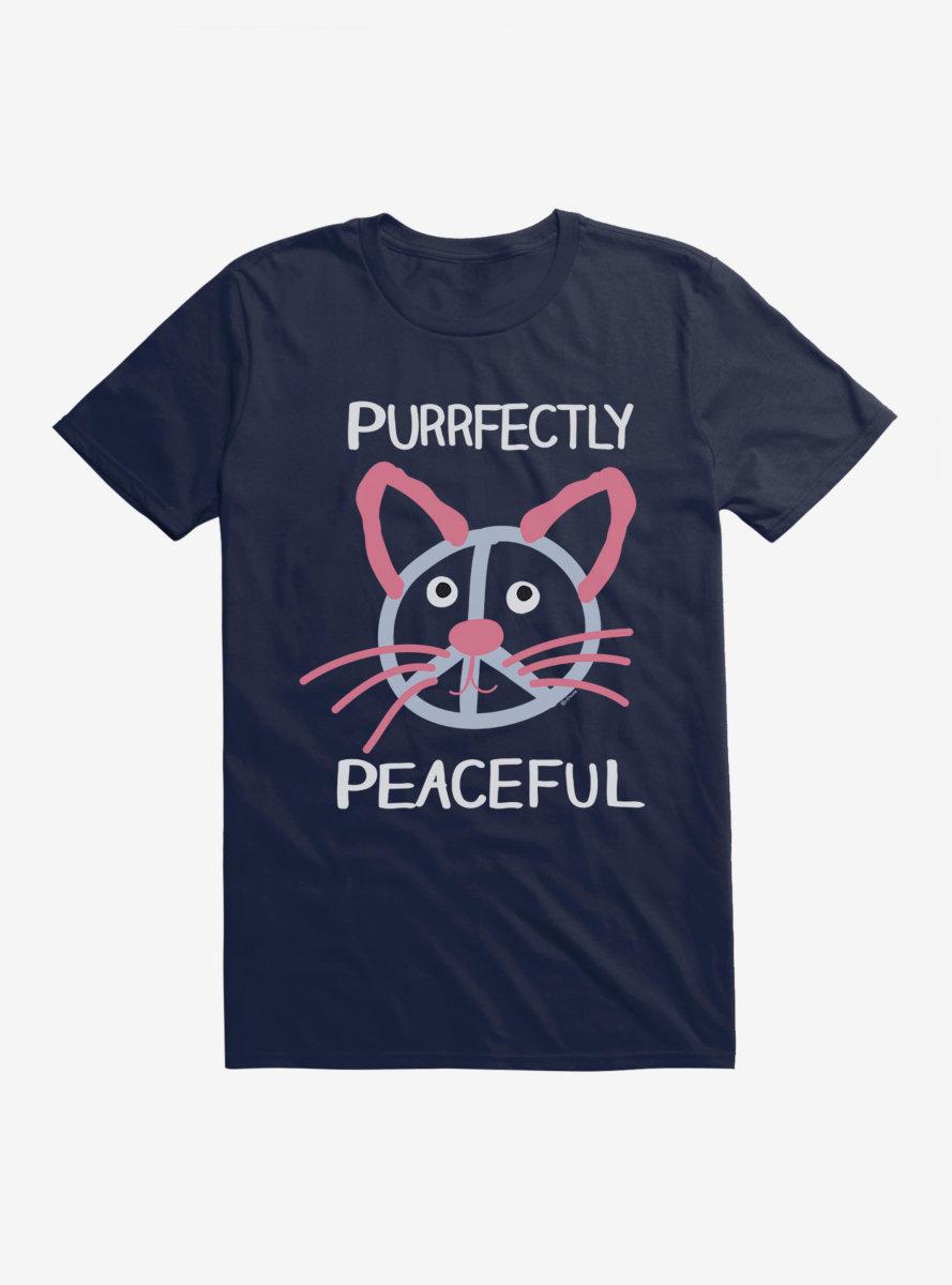 i-Create Purrfectly Peaceful Cat T-Shirt