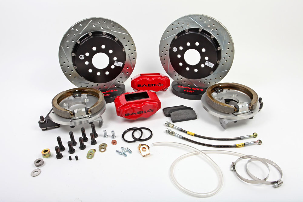 Baer Brakes Brake System 13 Inch Rear SS4+ w/Park Brake Red 58-64 Chevy Full Size Car
