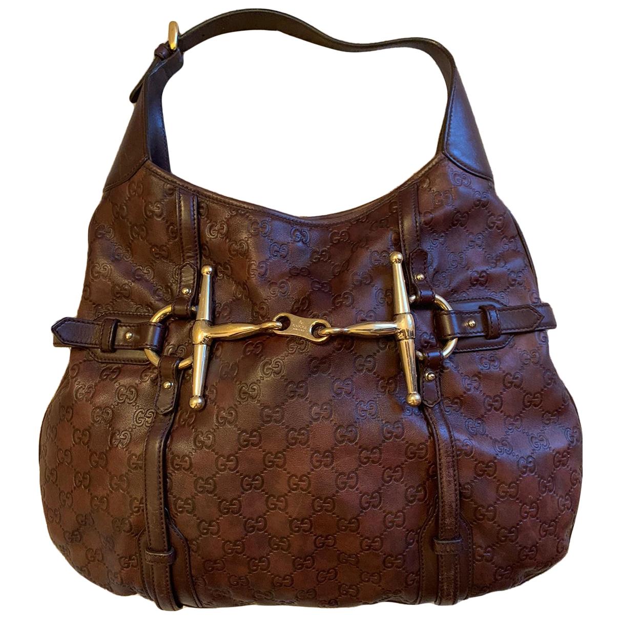 Gucci Hysteria Brown Leather handbag for Women \N