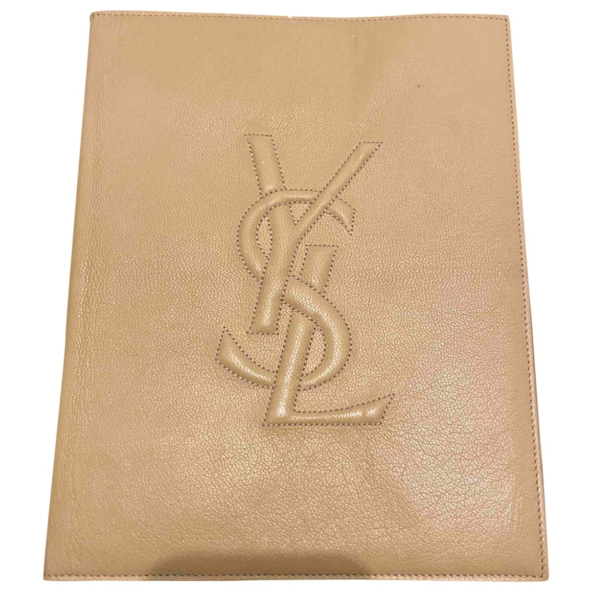 Yves Saint Laurent \N Beige Leather Accessories for Life & Living \N