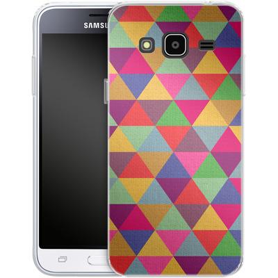 Samsung Galaxy J3 (2016) Silikon Handyhuelle - In Love With Triangles von Bianca Green
