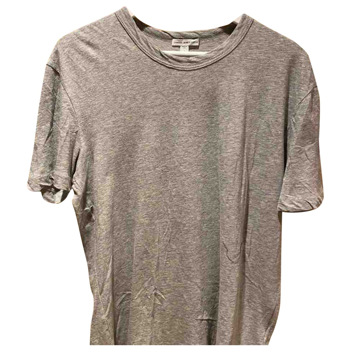 James Perse - Tee shirts   pour homme en coton - gris
