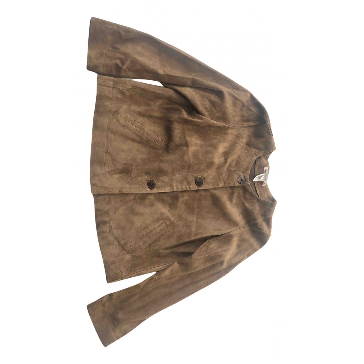 Bonpoint - Blousons.Manteaux   pour enfant en suede - camel