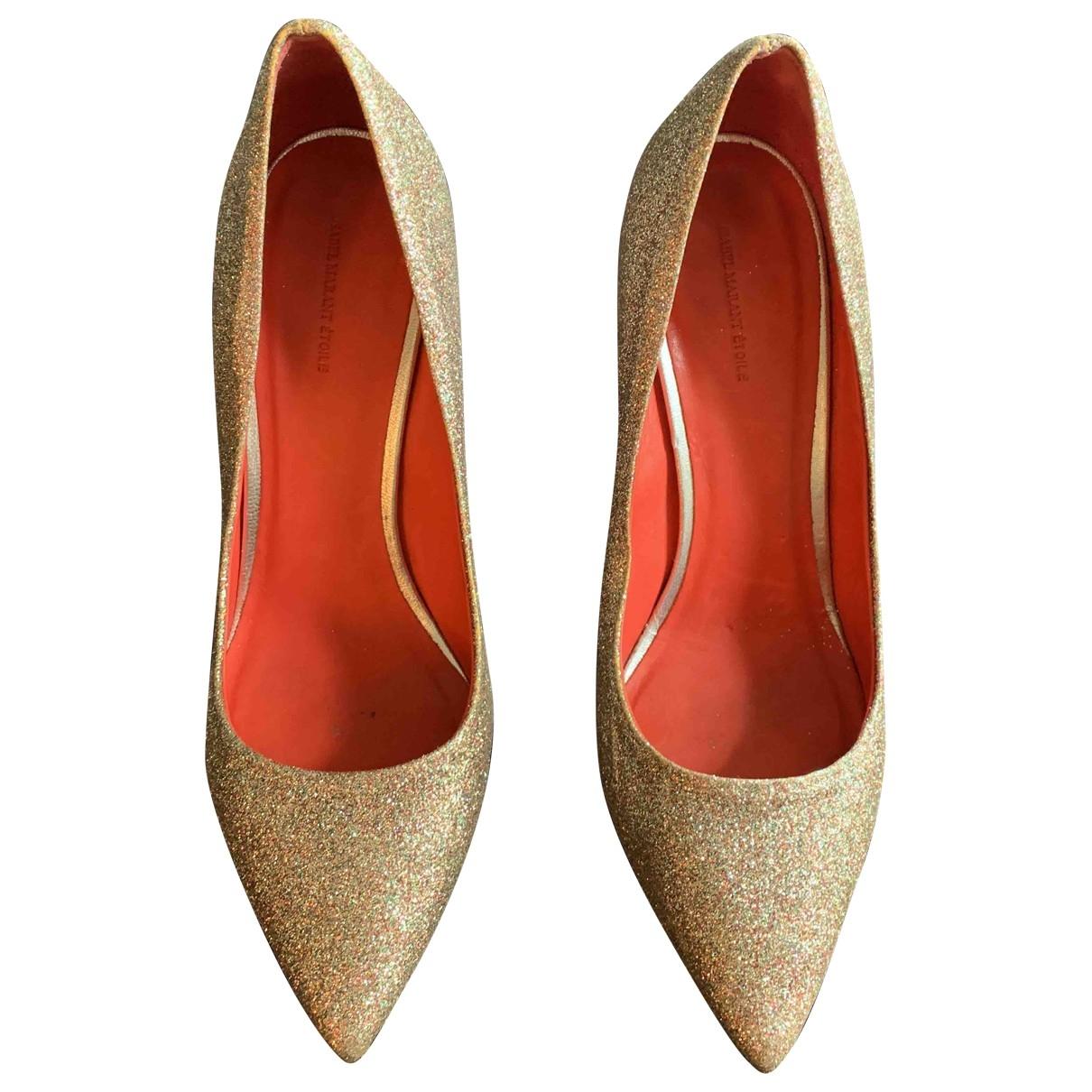 Isabel Marant Etoile \N Gold Glitter Heels for Women 40 EU