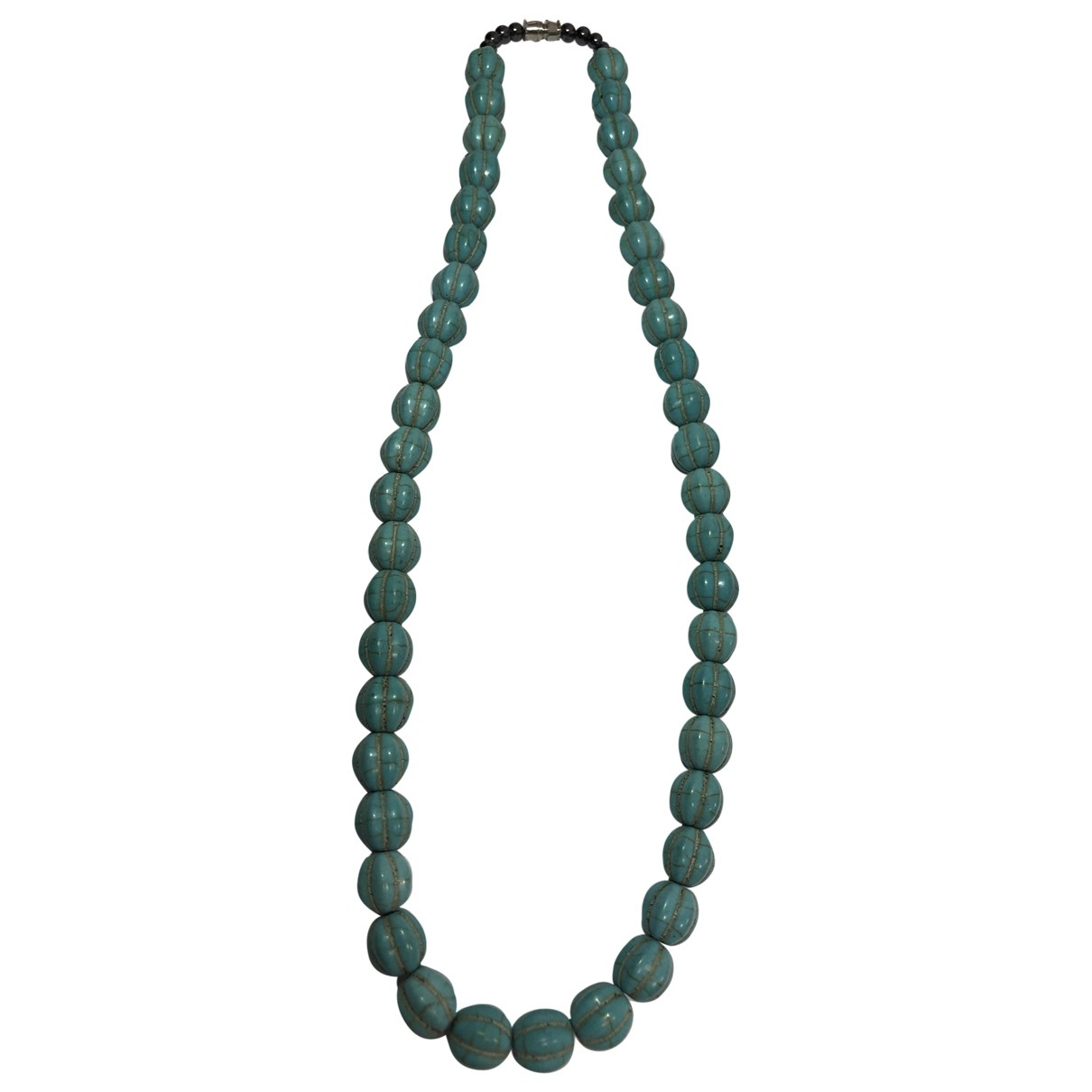 Non Signé / Unsigned \N Turquoise Ceramic necklace for Women \N