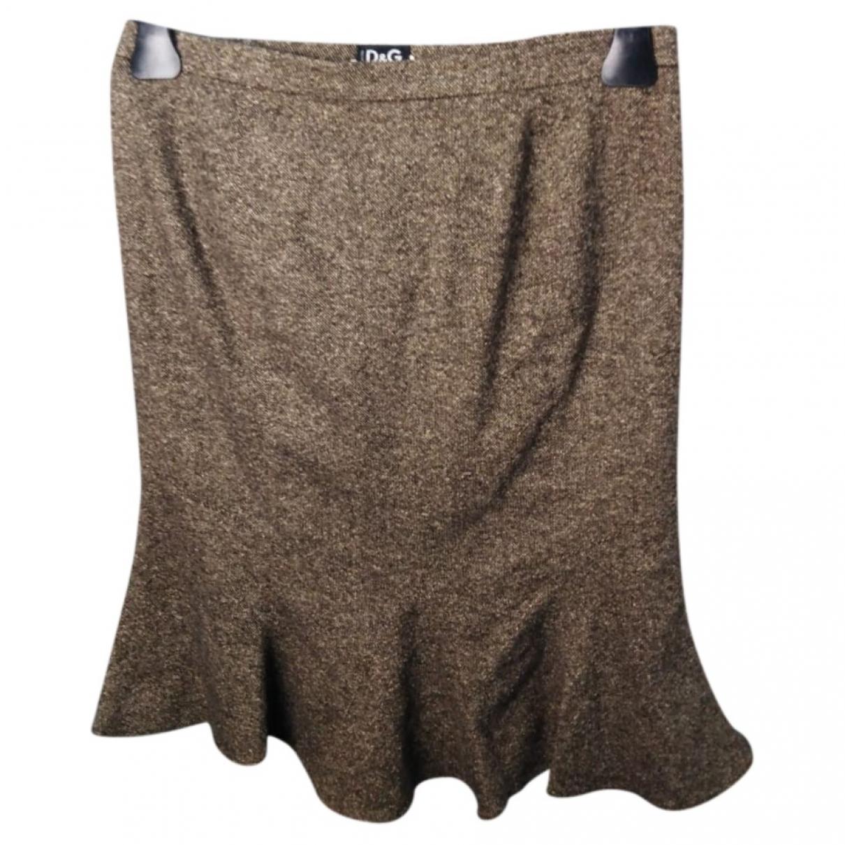 D&g - Jupe   pour femme en laine - marron