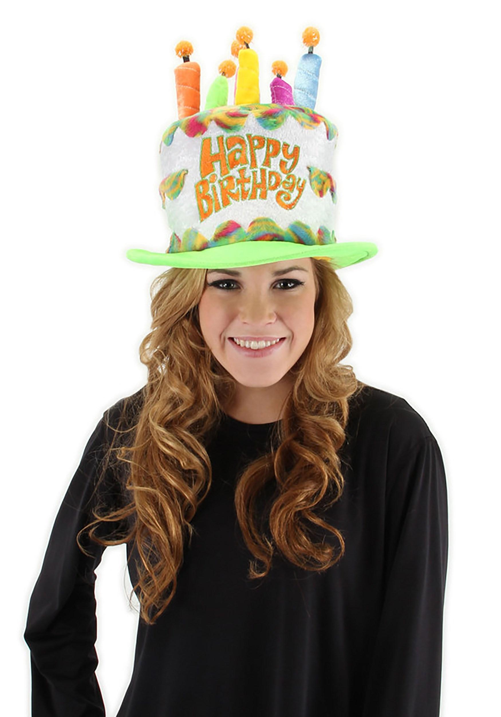 Plush Rainbow Birthday Cake Hat