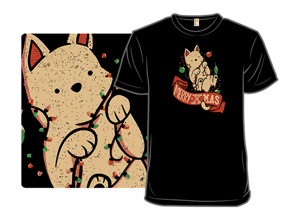 Merry Xmas Cat T Shirt