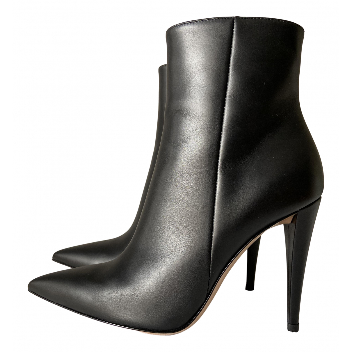 Gianvito Rossi - Boots   pour femme en cuir - noir