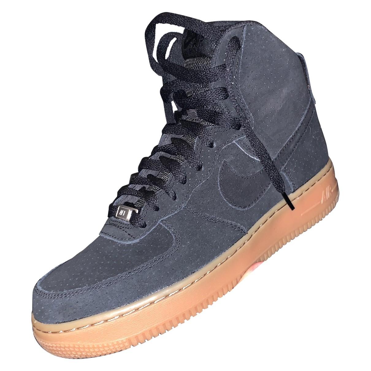Nike - Baskets Air Force 1 pour homme en suede - noir