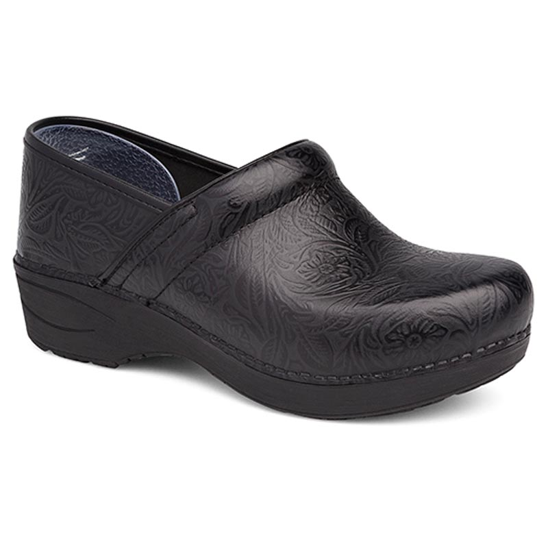 Dansko Pro Xp 2.0 Black Floral Tooled Leather Slip-Resistant 42 R