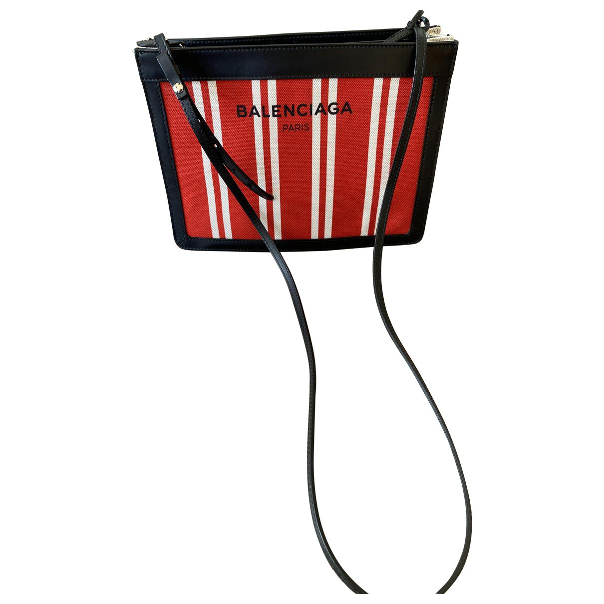 Balenciaga Navy cabas Multicolour Cotton handbag for Women N