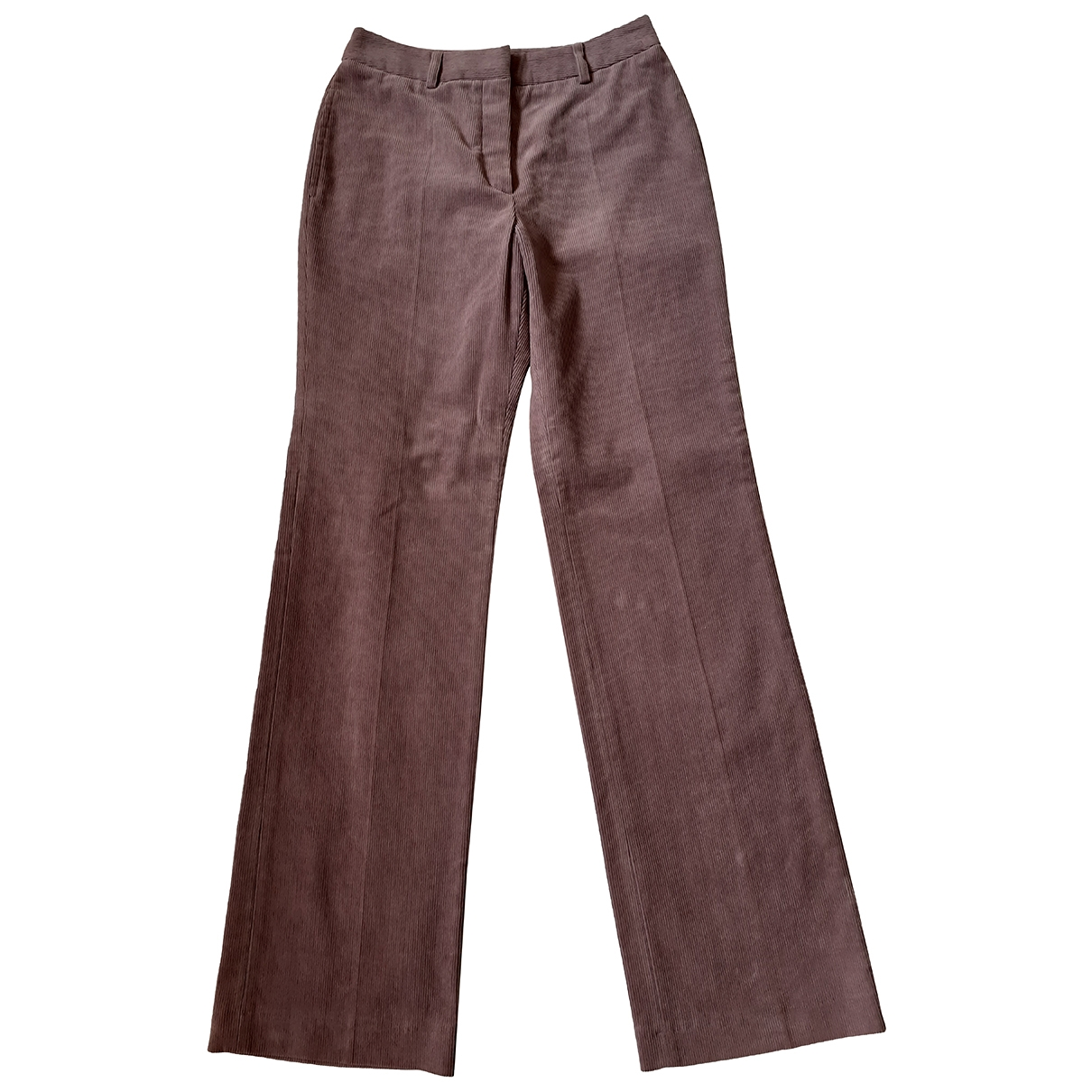 Gerard Darel \N Pink Cotton Trousers for Women 38 FR