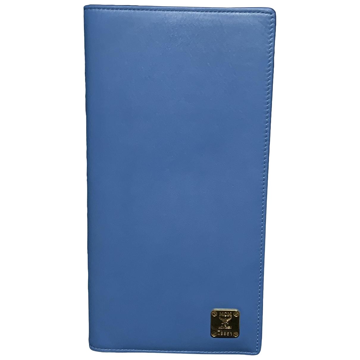 Mcm \N Blue Leather wallet for Women \N
