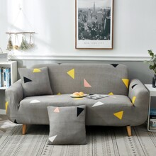 Triangle Print Sofa Cover Without Cushion