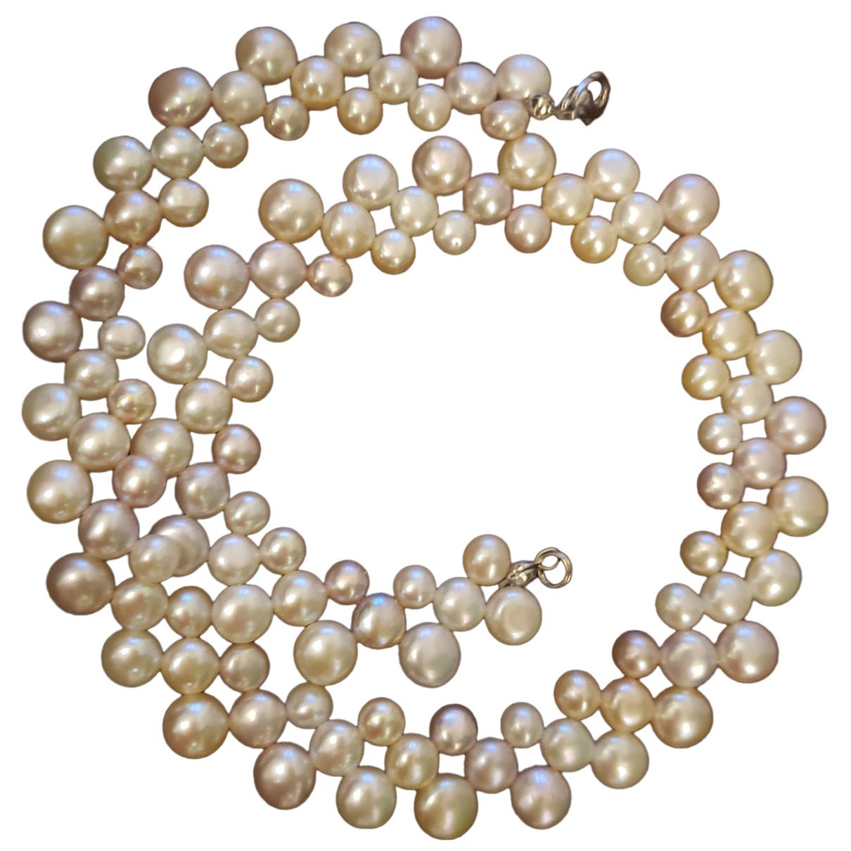 - Collier Turquoises pour femme en perles - blanc