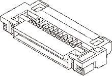 Molex 51296 Series 0.5mm Pitch 40 Way SMT Female FPC Connector, ZIF (3000)