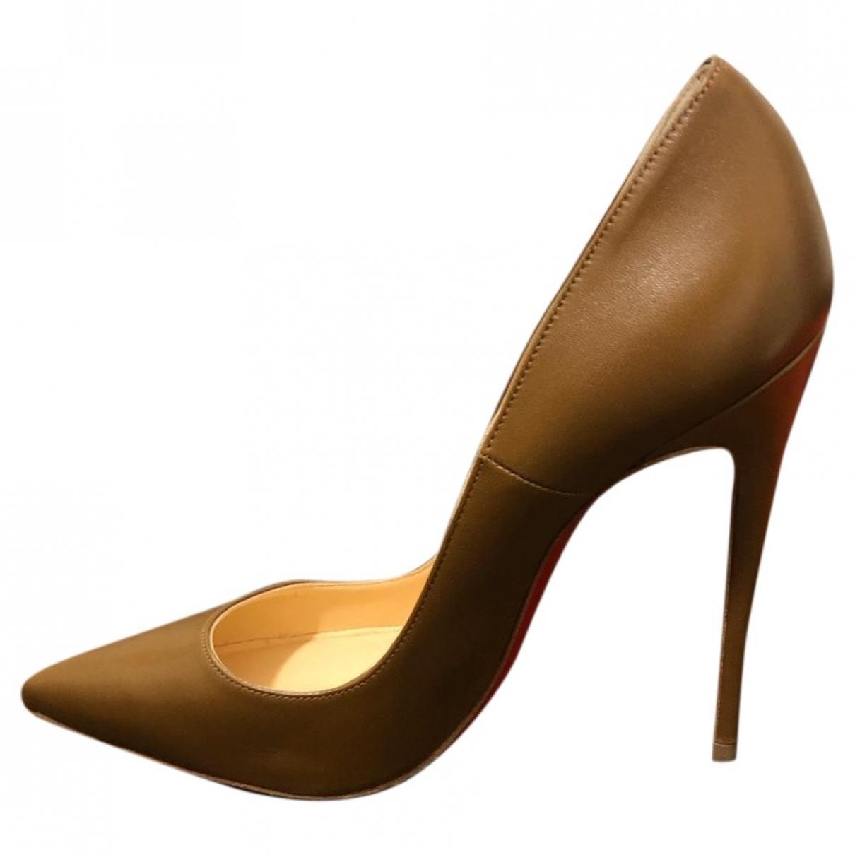 Christian Louboutin - Escarpins Iriza pour femme en cuir - beige