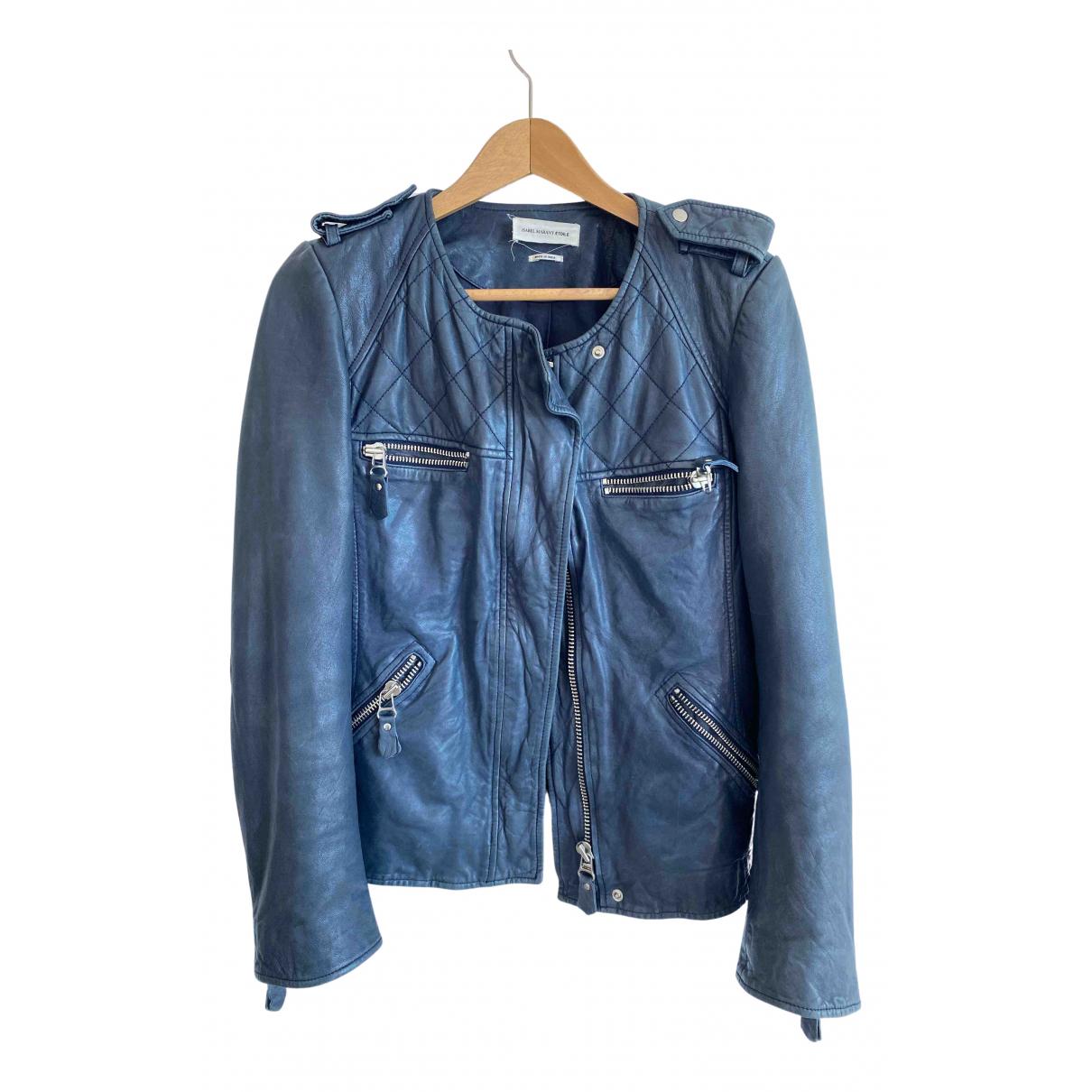 Isabel Marant Etoile \N Navy Leather Leather jacket for Women 38 FR