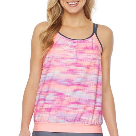 Free Country Tie-dye Tie Dye Tankini Swimsuit Top, Xx-large , Pink