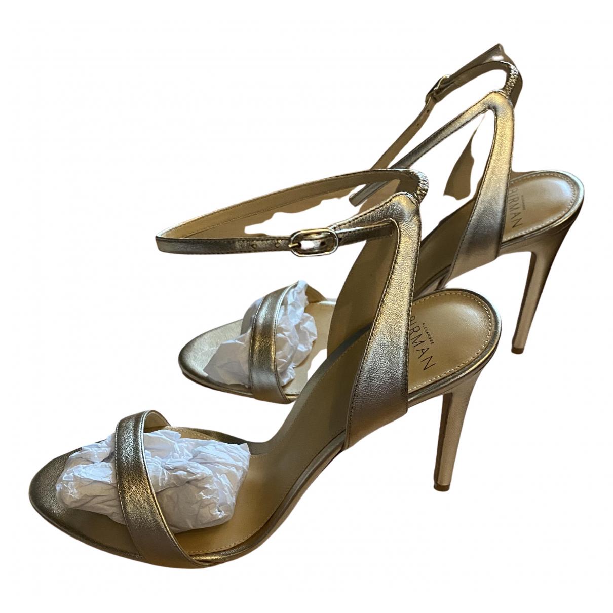 Alexandre Birman - Sandales   pour femme en cuir - dore