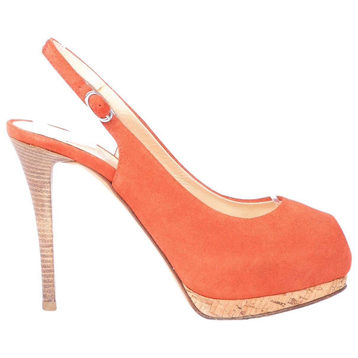 Giuseppe Zanotti - Escarpins   pour femme en suede - orange